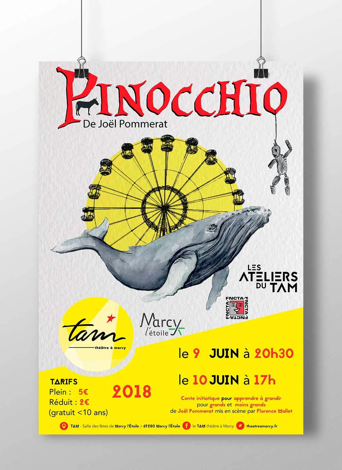 Affiche_Illustration_Flyer_Spectacle_théâtre_Pinocchio
